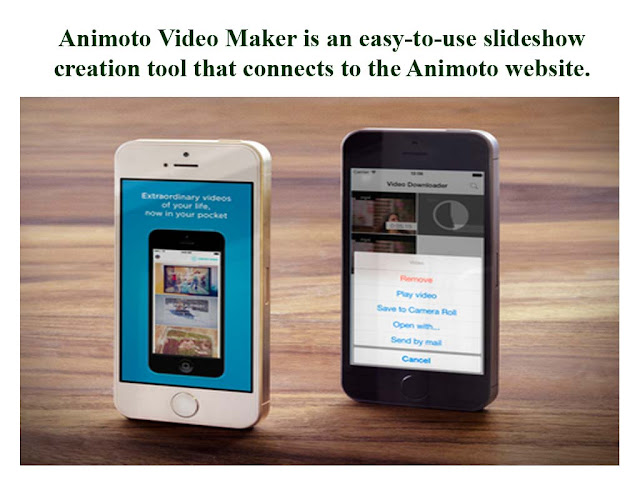 animoto video maker is an easy to use slideshow creation tool