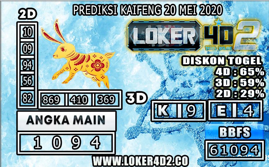 PREDIKSI TOGEL KAIFENG LOKER4D2 20 MEI 2020