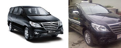 Toyota Kijang Innova menjadi Taksi