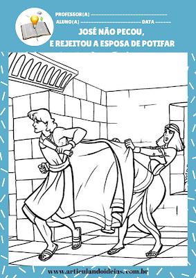 José foge da esposa de Potifar