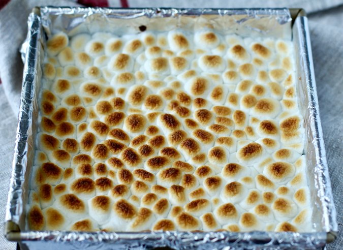S'mores Brownies broiled