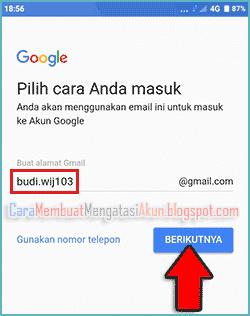 contoh akun google di android xiaomi redmi 5a