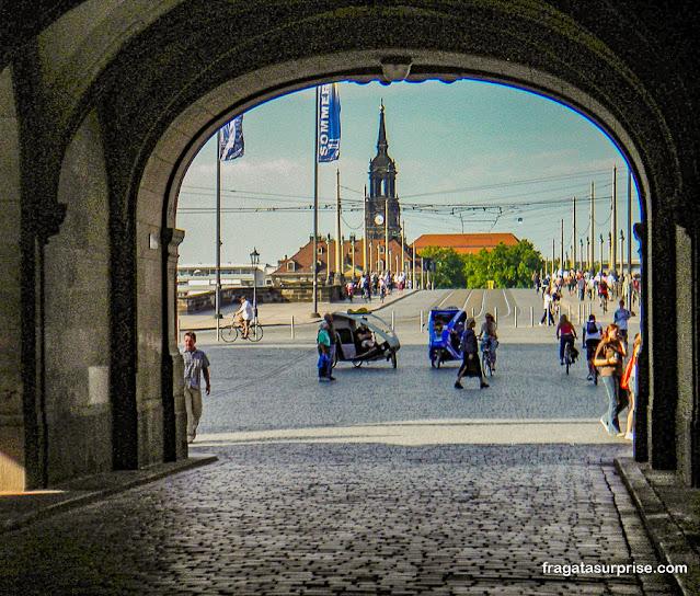 Acesso ao Centro Histórico de Dresden, Alemanha