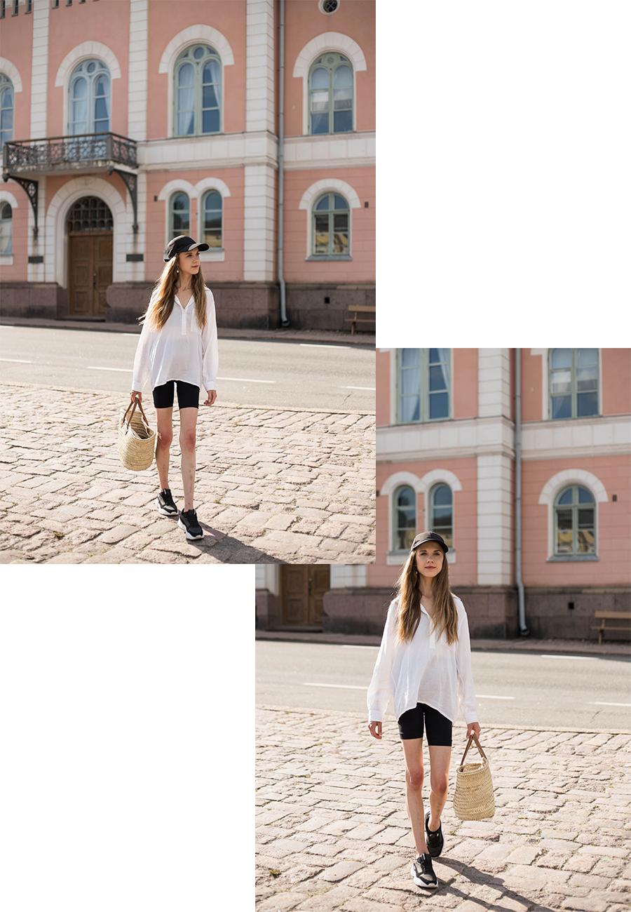 Mustavalkoinen sporttinen kesäasu // Black and white sporty summer outfit