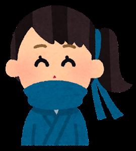 いろいろな表情の忍者のイラスト(女性・笑った顔)