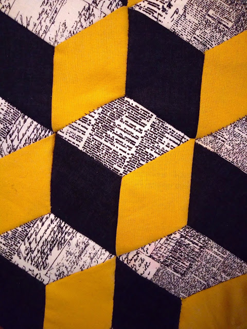 Tumbling Block, patchwork