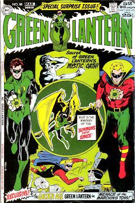 Green Lantern Green Arrow #88 dc comic book cover art by Neal Adams