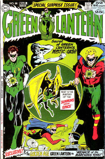 Green Lantern Green Arrow #88 dc comic book cover art by Neal Adams