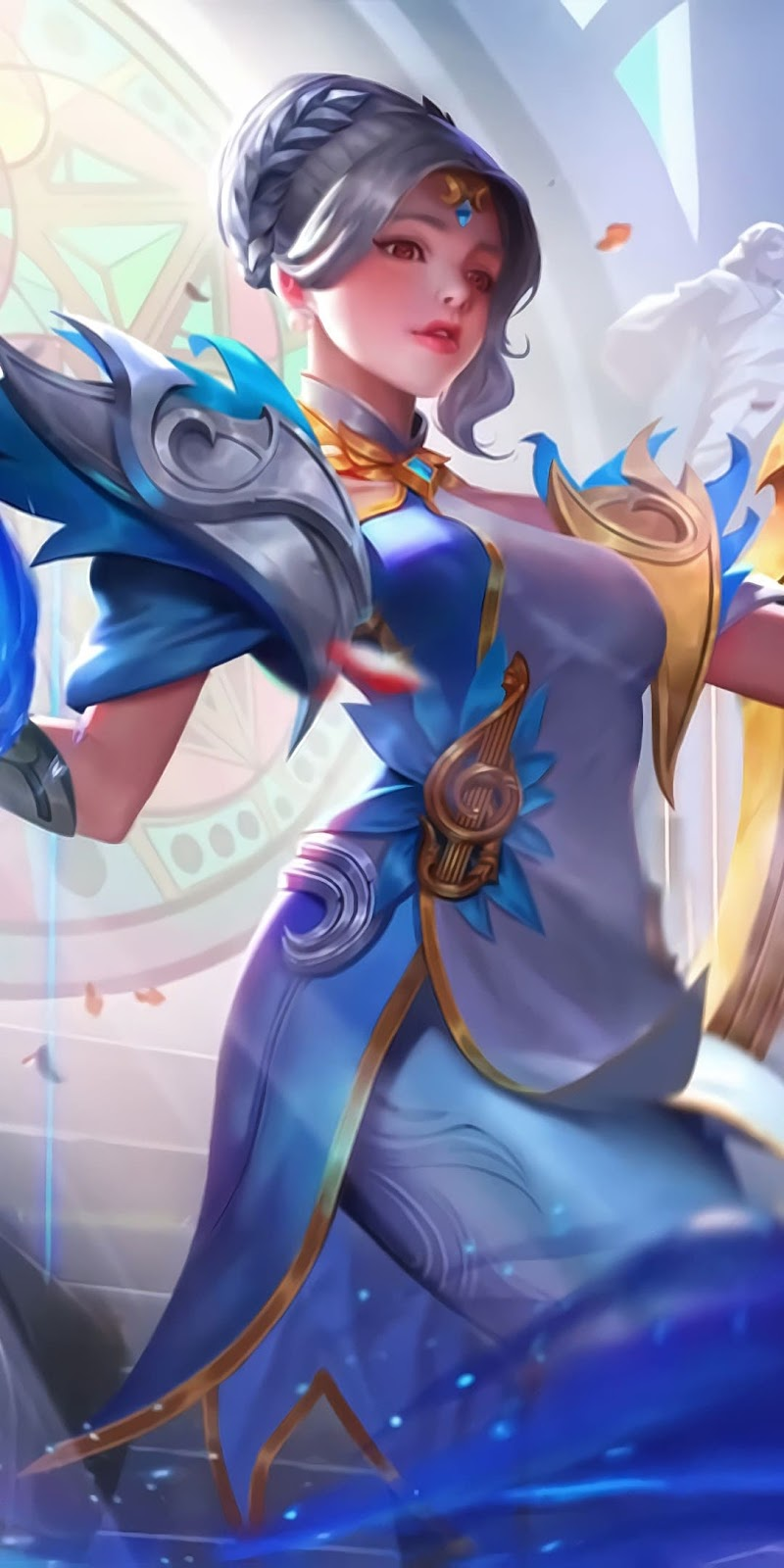 Wallpaper Lunox Cosmic Harmony Skin Mobile Legends Full HD for Android and iOS