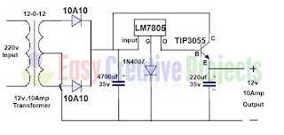 5v 10 amp power supply circuit diagram