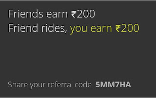 ola refer and earn