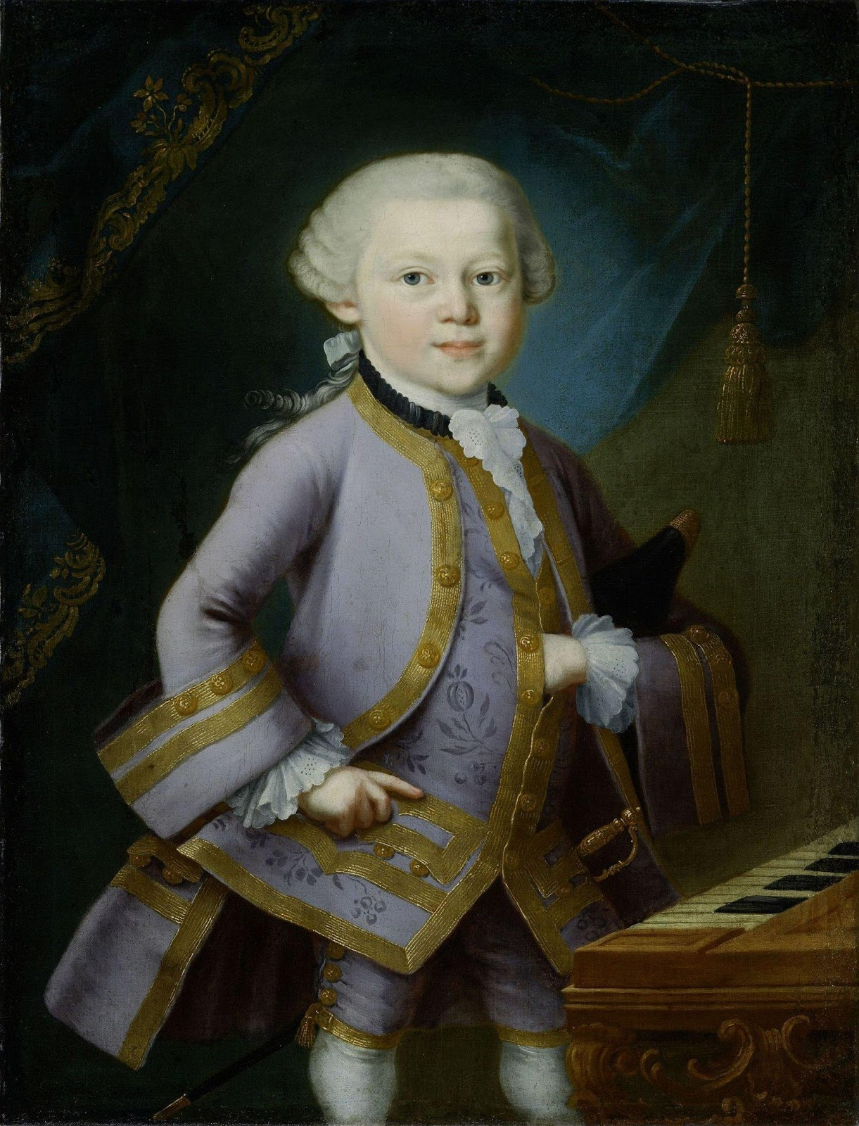 IN REVIEW: the young Wolfgang Amadeus Mozart, as painted by Pietro Antonio Lorenzoni, circa 1763 [Image © by Mozarteaum Foundation]
