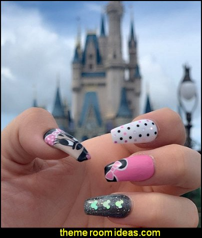 Minnie Mouse Hand Painted Bespoke Press On Nails - Minnie Mouse Disney Inspired  False Nails
