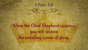 And when the Chief Shepherd appears, you will receive the crown of glory that will never fade away.