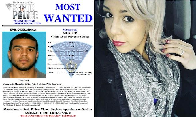Fugitivo dominicano por asesinato de mujer encabeza lista de más buscados en Massachusetts