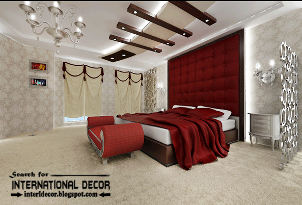 Top luxury bedroom decorating ideas designs furniture 2015 for Bedroom gypsum ceiling designs photos