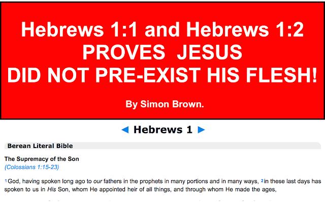HEBREWS 1:1