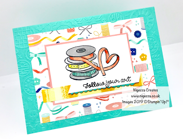 Nigezza Creates, Stampin' Up! Follow Your Art Tutorial