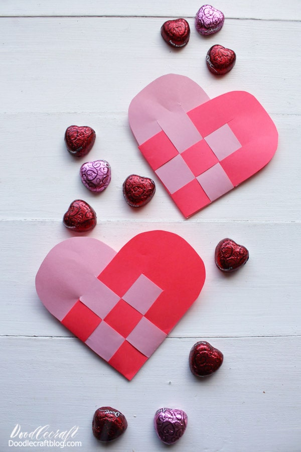 Learn how to make a woven heart basket for Valentines day or any other occasion.