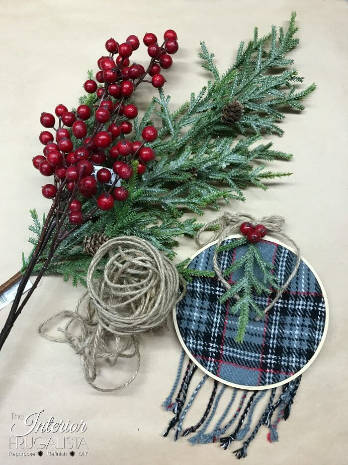 Festive Recycled Sweater Ornament Embellishments