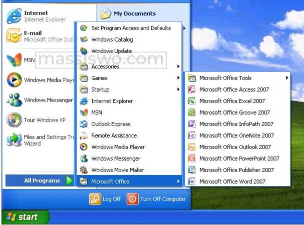 instal microsoft office 2007