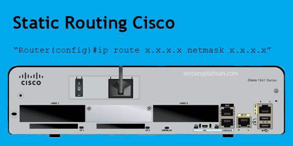 artikel ini membahas mengenai konfigurasi static routing di router cisco