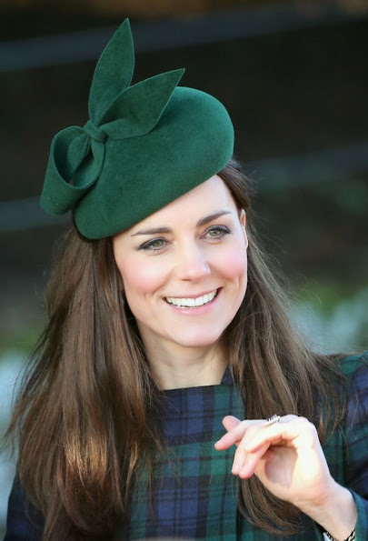 Members of the British Royal Family, Kate Middleton, Duchess Sophie, Queen Elizabeth attended two Christmas Day service