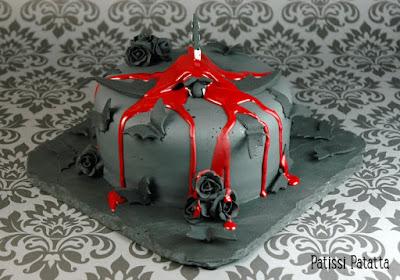 gâteau Halloween, Halloween cake, bats cake, cake design, pâte à sucre, gumpaste, histoire de la grande chauve-souris, patissi-patatta
