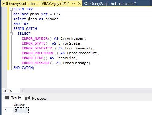 SQL Server error handling