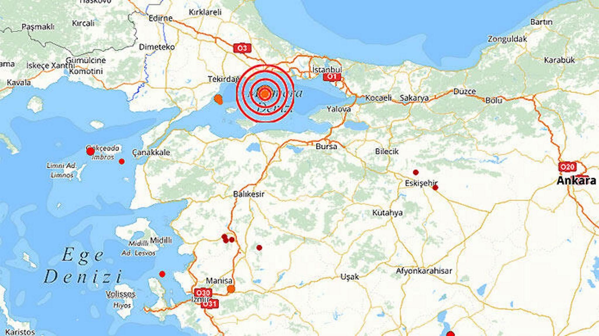 Σεισμός ταρακούνησε την Κωνσταντινούπολη