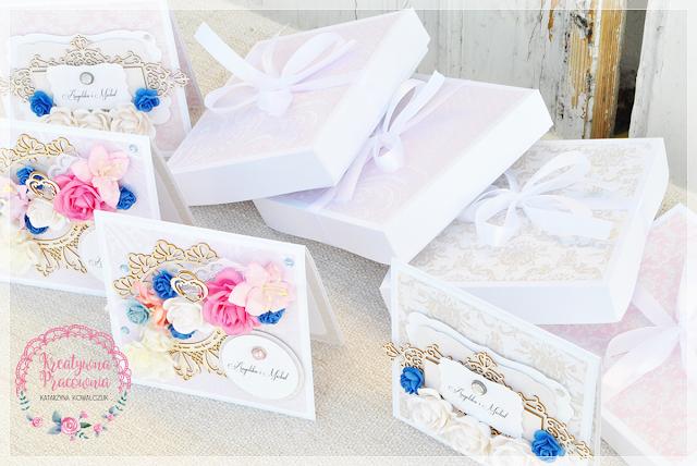 zaproszenie ślubne kwiatowe, scrapbooking, handmade