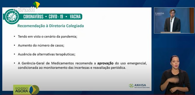 Área técnica da Anvisa recomenda aprovar Coronavac e vacina de Oxford