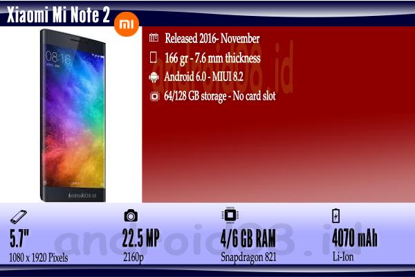 Spesifikasi Xiaomi Mi Note 2