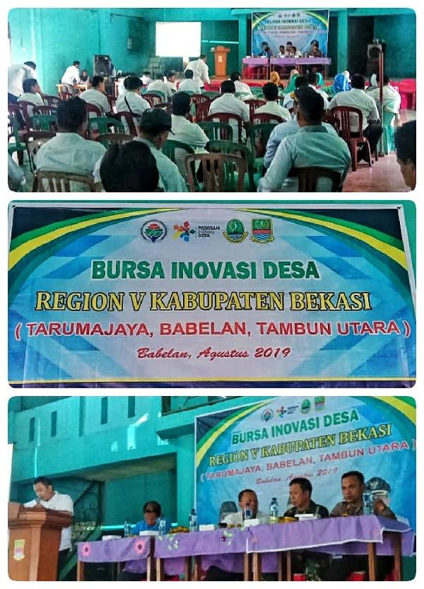 TPID Kab Bekasi Region V Gelar Bursa Inovasi Desa di Babelan