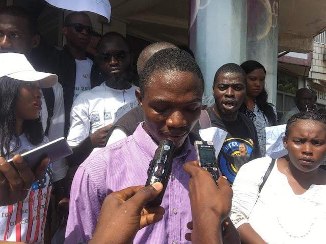 Monsieur Salou Youmbouno membre du collectif.