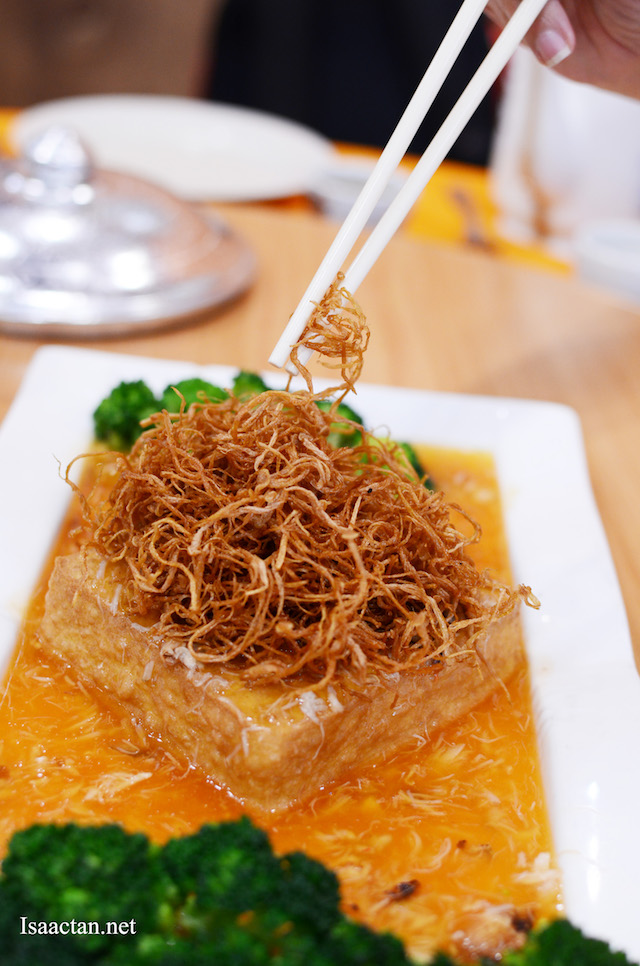 Tofu with Fried Enoki Mushrooms - RM25