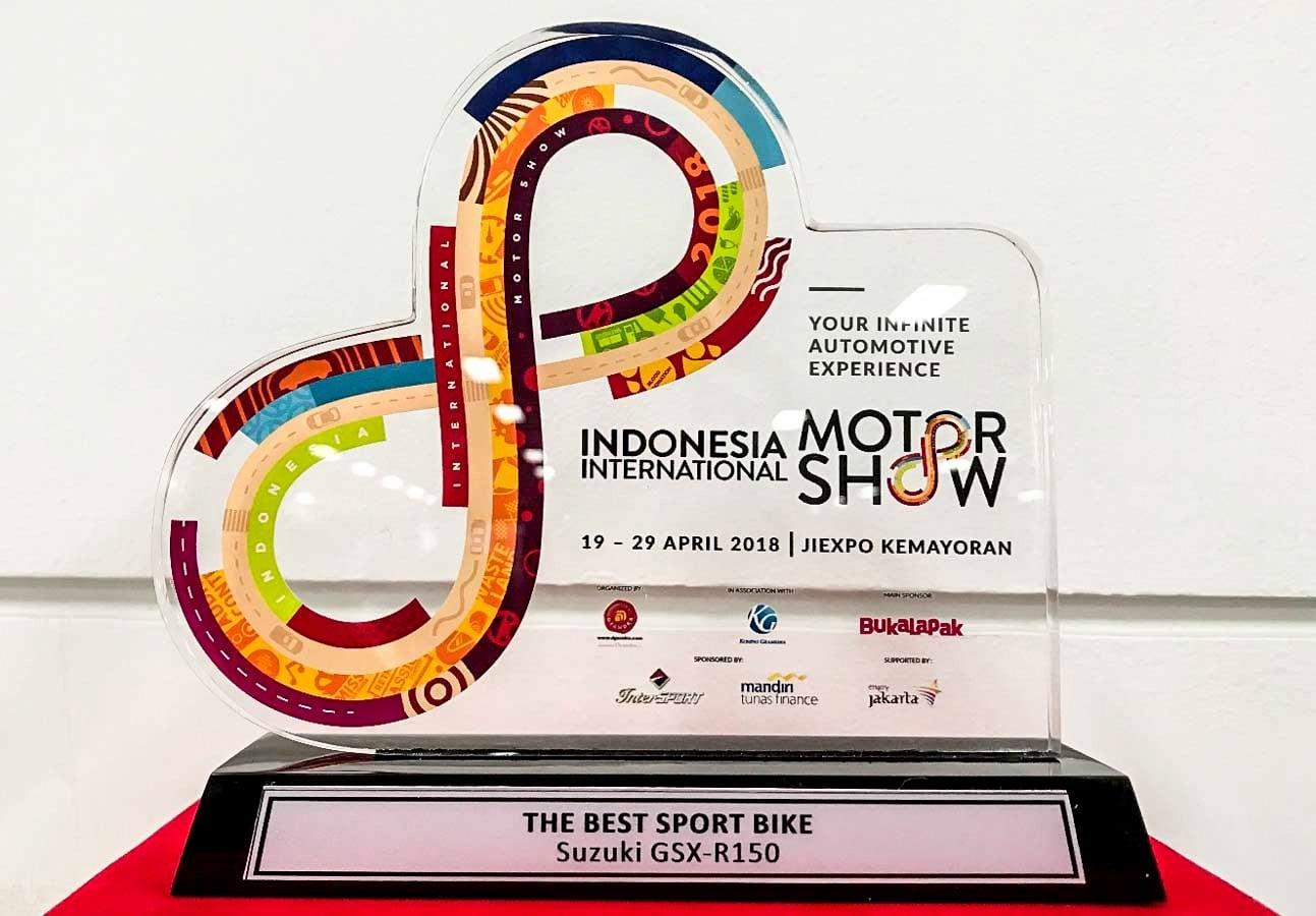 IIMS 2018 : Suzuki GSX-R150 berhasil meraih penghargaan best sport bike !