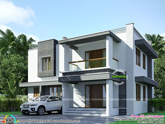 2128 square feet 3 bedroom flat roof home