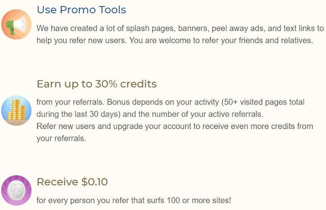 promoted easyhits4u to get referrals bonus