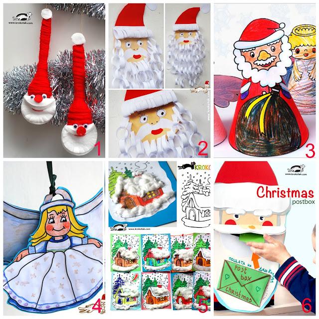 Popolare Decorazioni di Natale con disegni stampabili per bambini  CO57