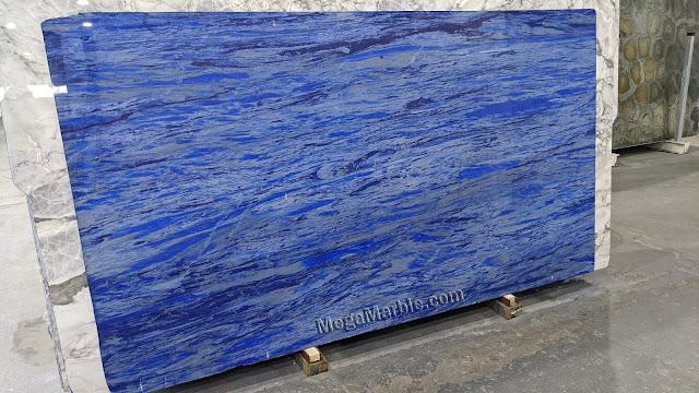 Blue Nana Polished Marble Slab