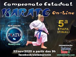 Campeonato Estadual de Karate On-Line - 5ª Etapa