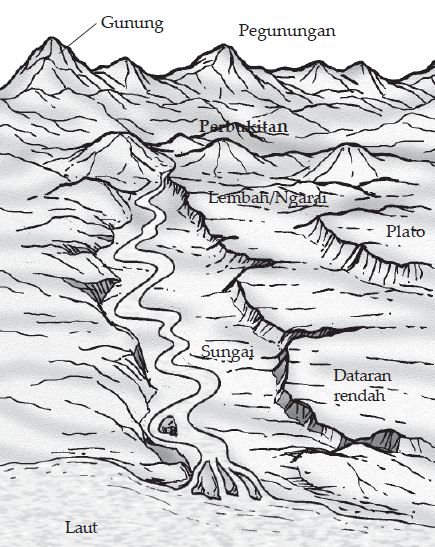 Penampang Melintang Bentuk Muka Bumi Daratan : penampang, melintang, bentuk, daratan, Relief, (Bentuk, Bumi), Daratan, Berpengetahuan