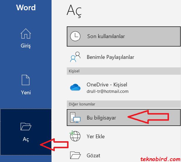 Microsoft Word'de PDF'yi Word'e Dönüştürme Adımları