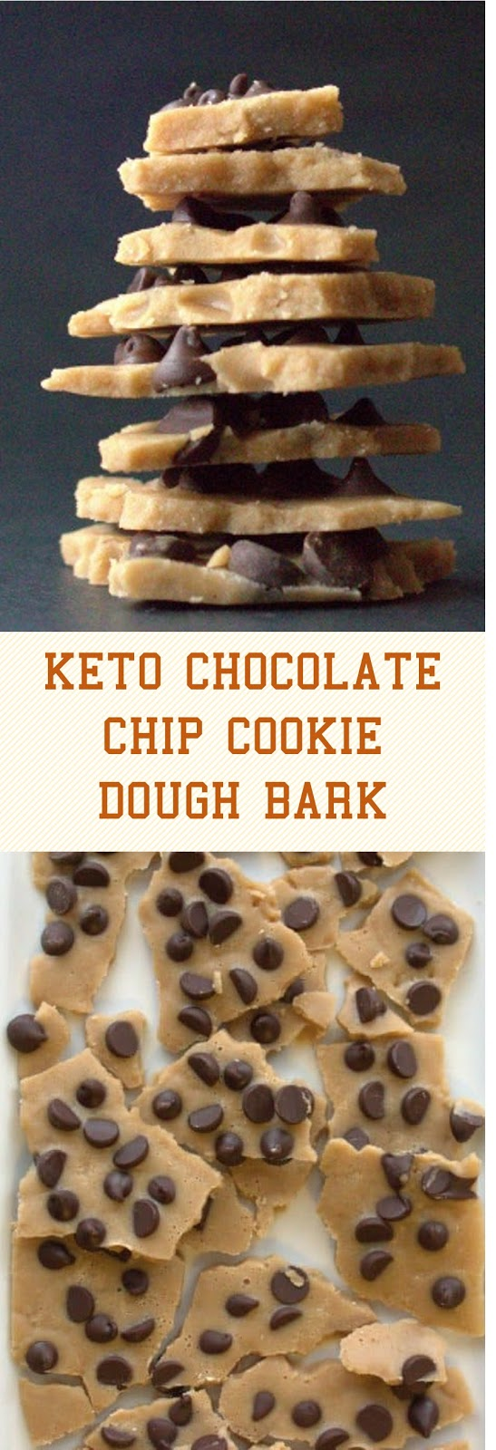 KETO CHOCOLATE CHIP COOKIE DOUGH BARK