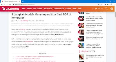 cara simpan halaman web menjadi pdf