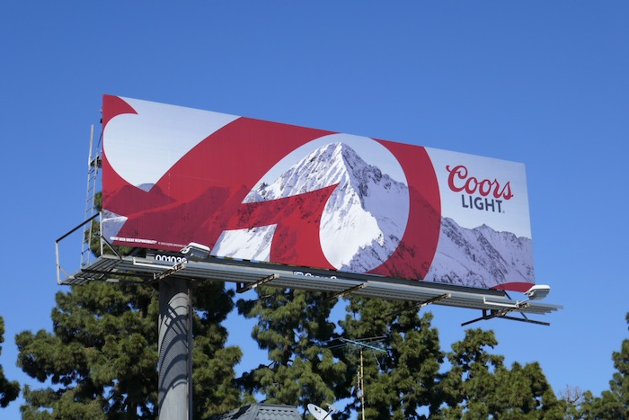 Coors Light March 2018 billboard