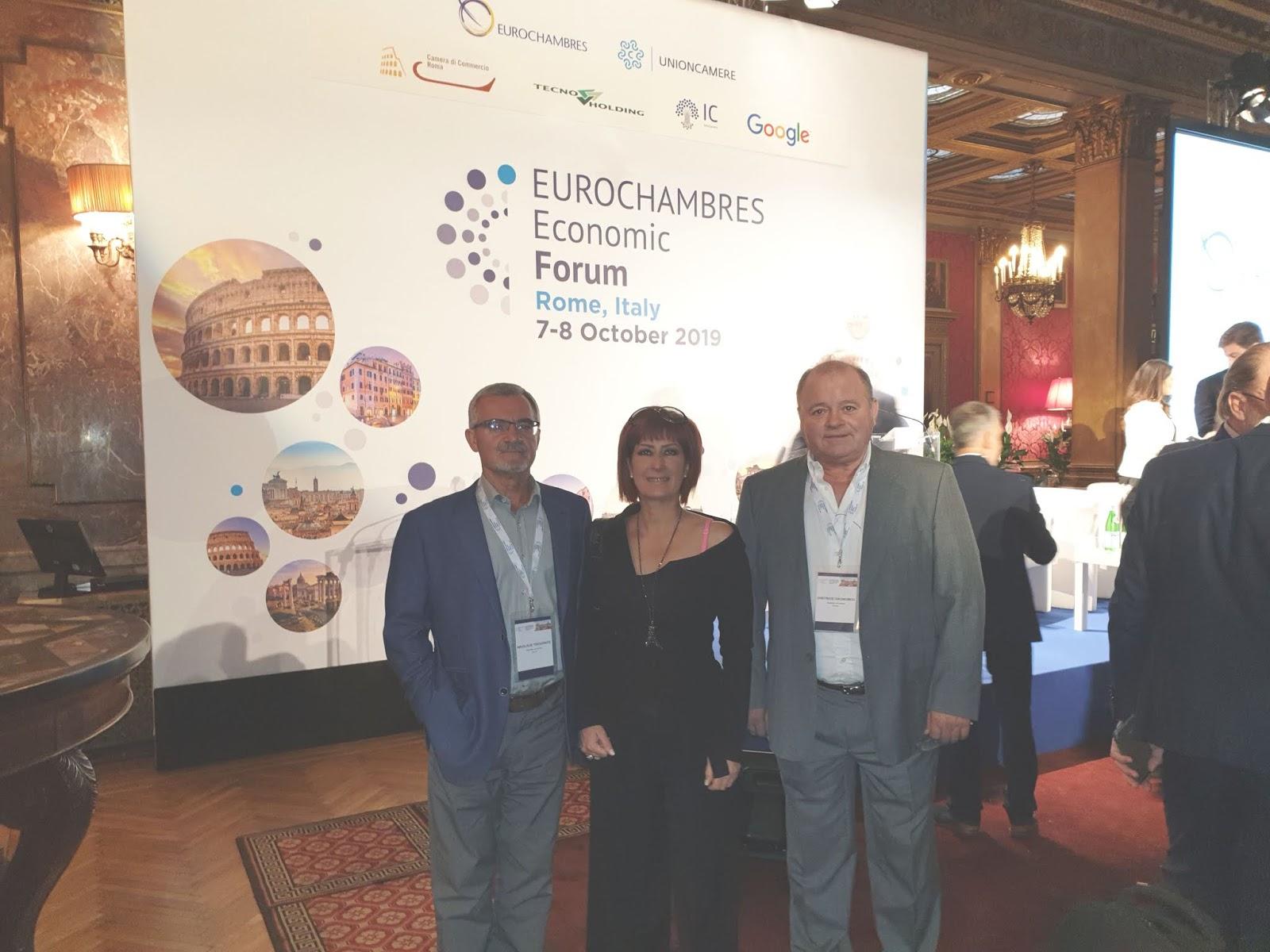 Το Επιμελητήριο Λάρισας στο 3ο Οικονομικό Forum στη Ρώμη