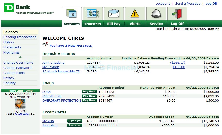 Td Bank Personal Checking