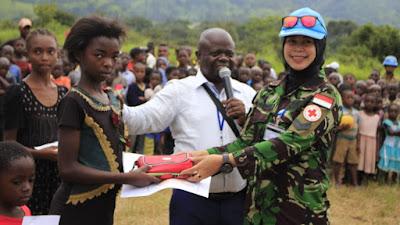 Wanita Peacekeepers Satgas TNI Peringati  International Women's Day di Kongo